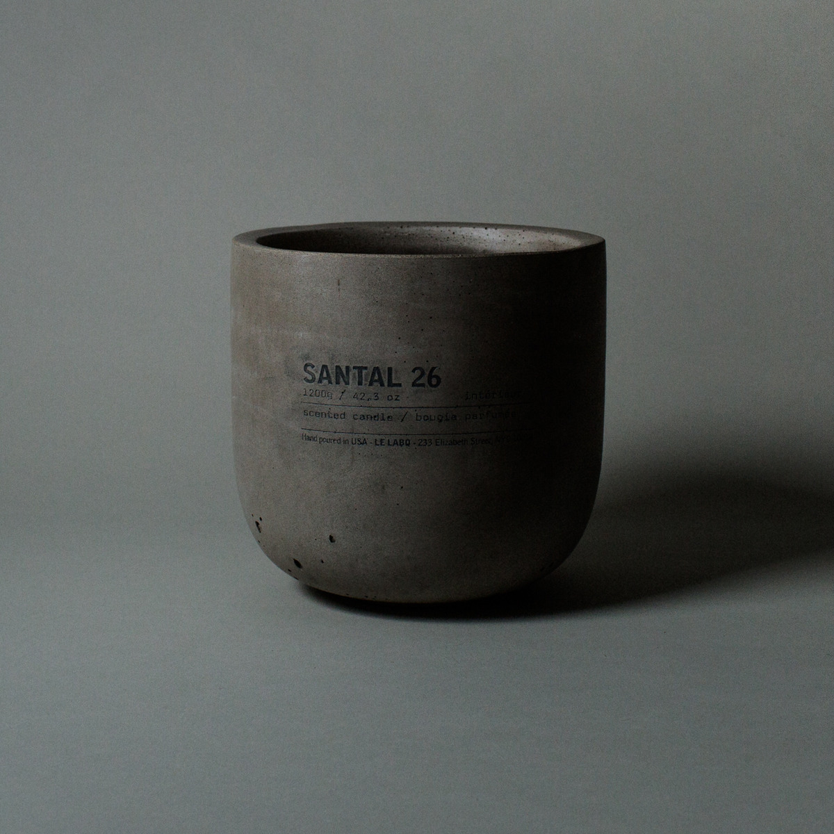 Don't let this photo fool you, cult fragrance co Le Labo's Santal 26 scented candle (vegan/ cruelty-free) is $450 of massive cement-housed candle! This one will light your fire for up to 150+ hours and comes packaged in the coolest wooden crate. SANTAL 26 concrete candle, $450 @lelabofragrances.com