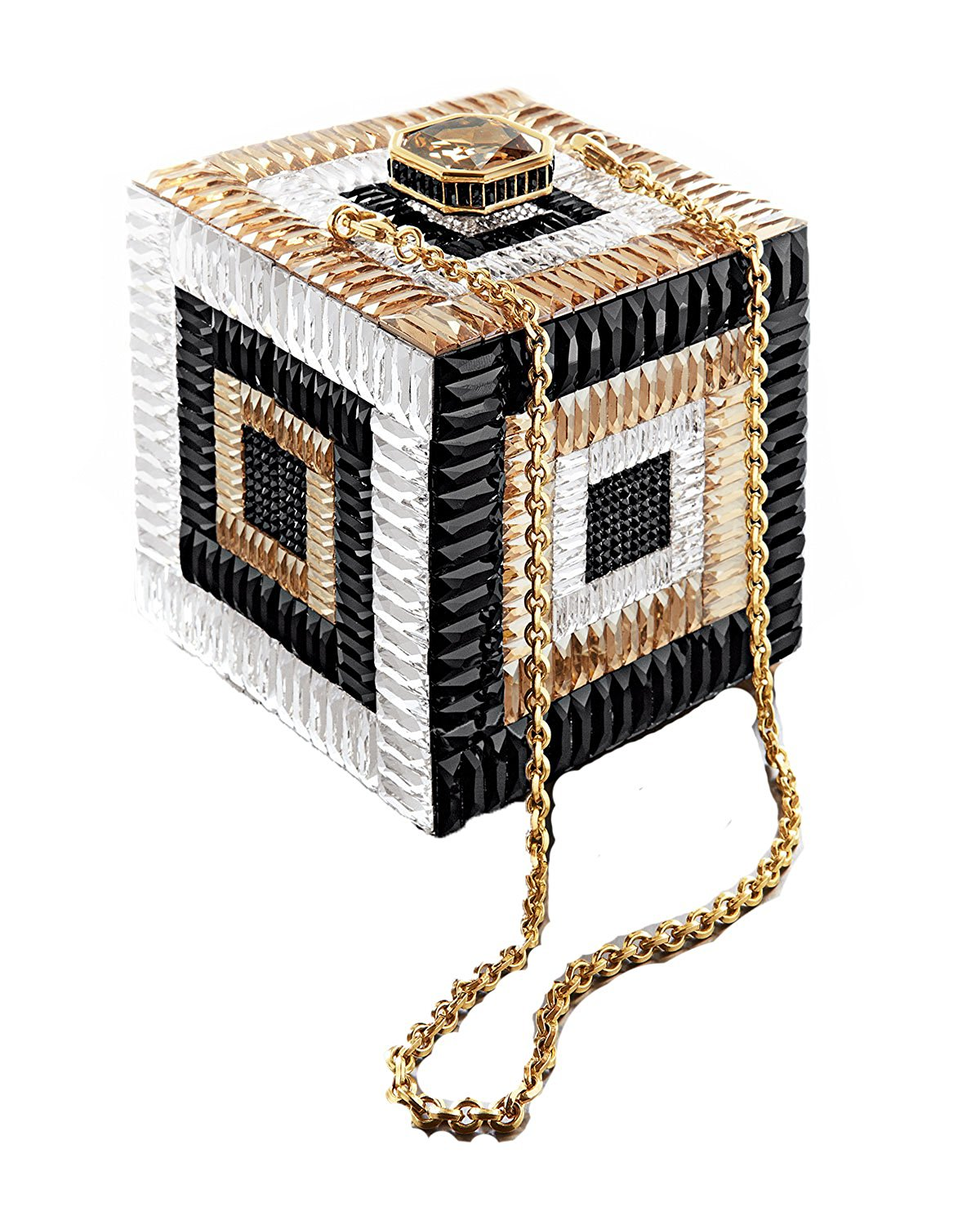 The same price as a really expensive piece of jewelry, this is a keeper for generations! Judith Leiber Couture Cube Be Square Crystal Clutch, $3,200 @amazon.com
