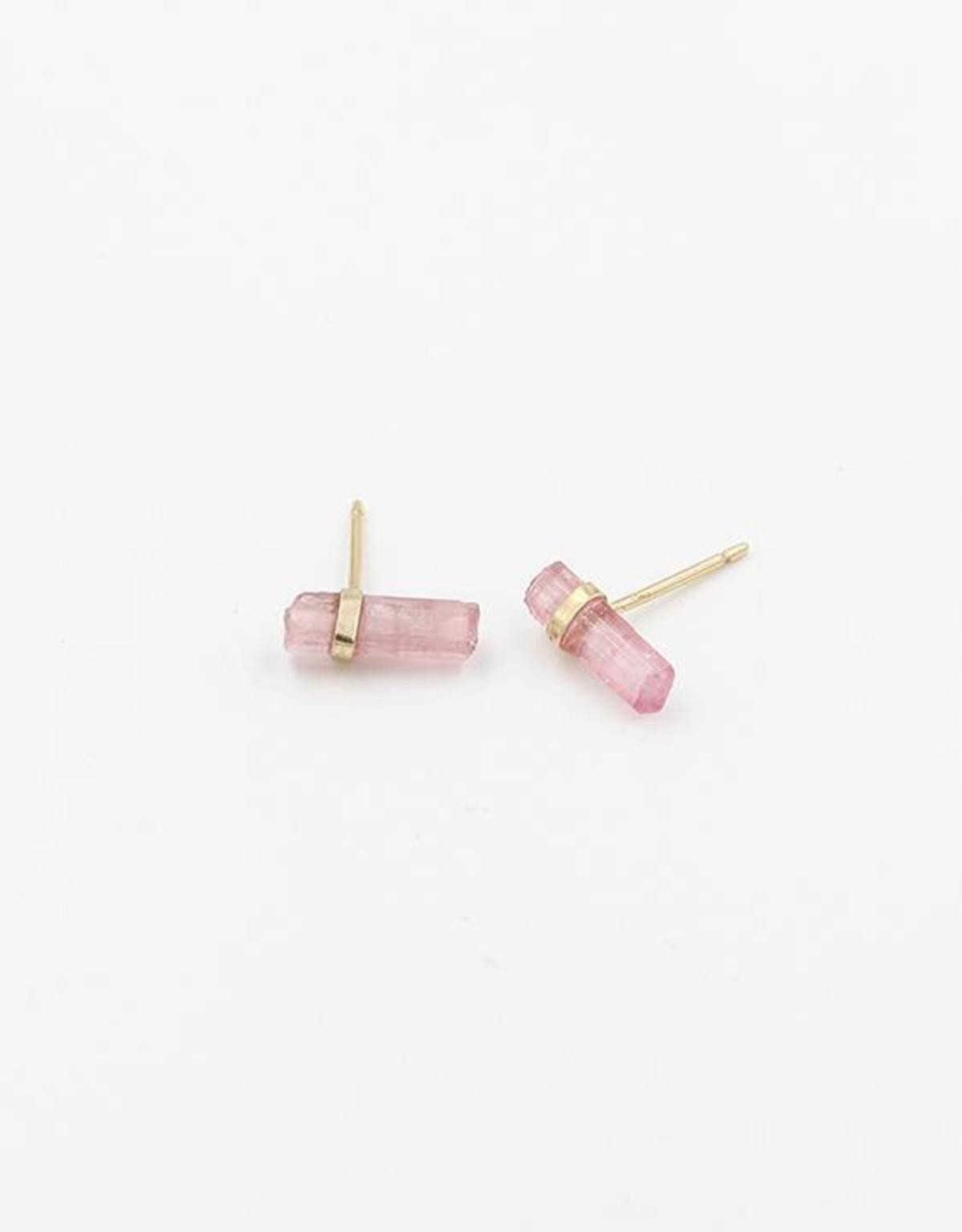 Sweetly precious Tourmaline Crystal Jené Despain Pink Nova Studs handmade in NYC, $90 @garmentory.com