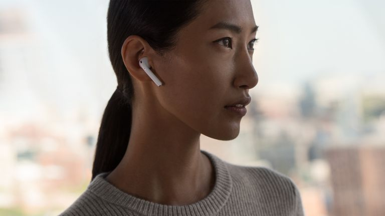 The Apple Airpods are the most lusted after new toy for him & her due to their tether free way to listen to music, talk on the phone, and do anything that involves sound, $159 @apple.com