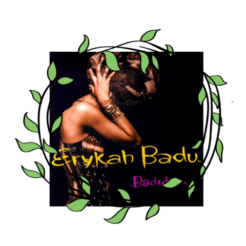 """Erykah Badu posed on the cover of her debut album """"Baduizm"""" with her head wrapped in 1997, celebrating her African heritage and contributing to the growing Afrocentrism movement. Source."""