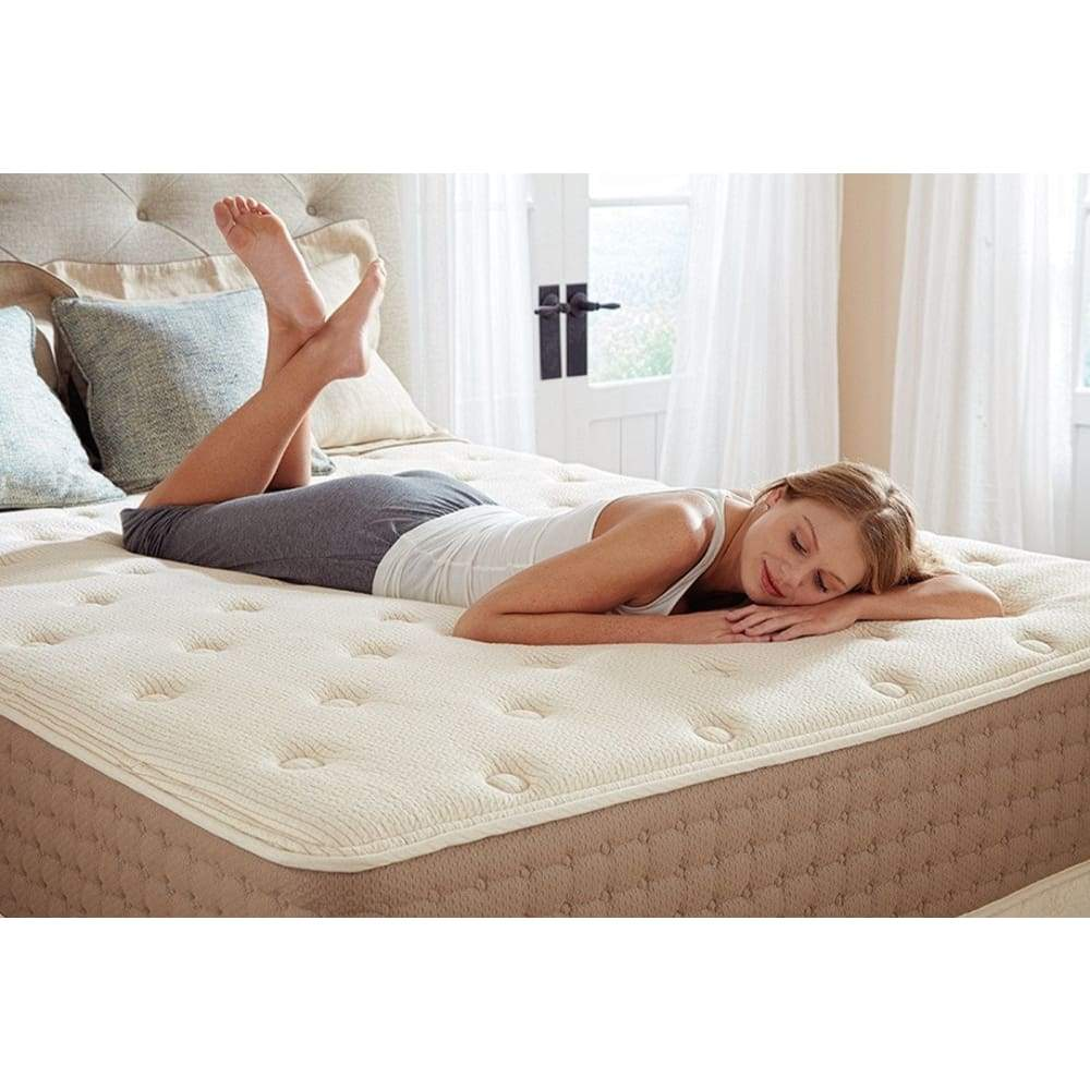 The Eco TerraLatex Mattress A surprisingly affordable luxurious all-natural latex mattress, comprised of 100% natural talalay latex and fabric-encased coils. Best value hybrid latex mattress.
