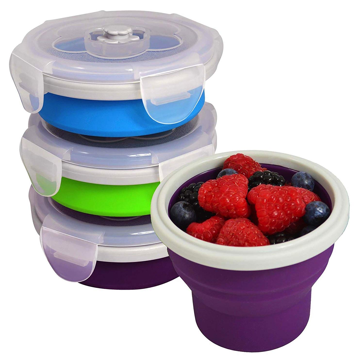 EcoVessel Snacker Collapsible Silicone Snack Box and Food Container - 8 Ounces, $19 @amazon.com