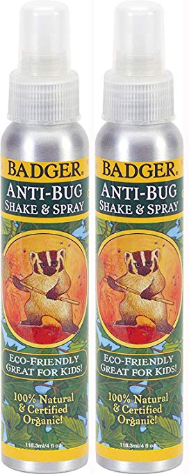 Badger - Anti-Bug Spray, 100% Natural and Certified Organic - 4 oz Aluminum Bottle (2 Pack), $20 @amazon.com