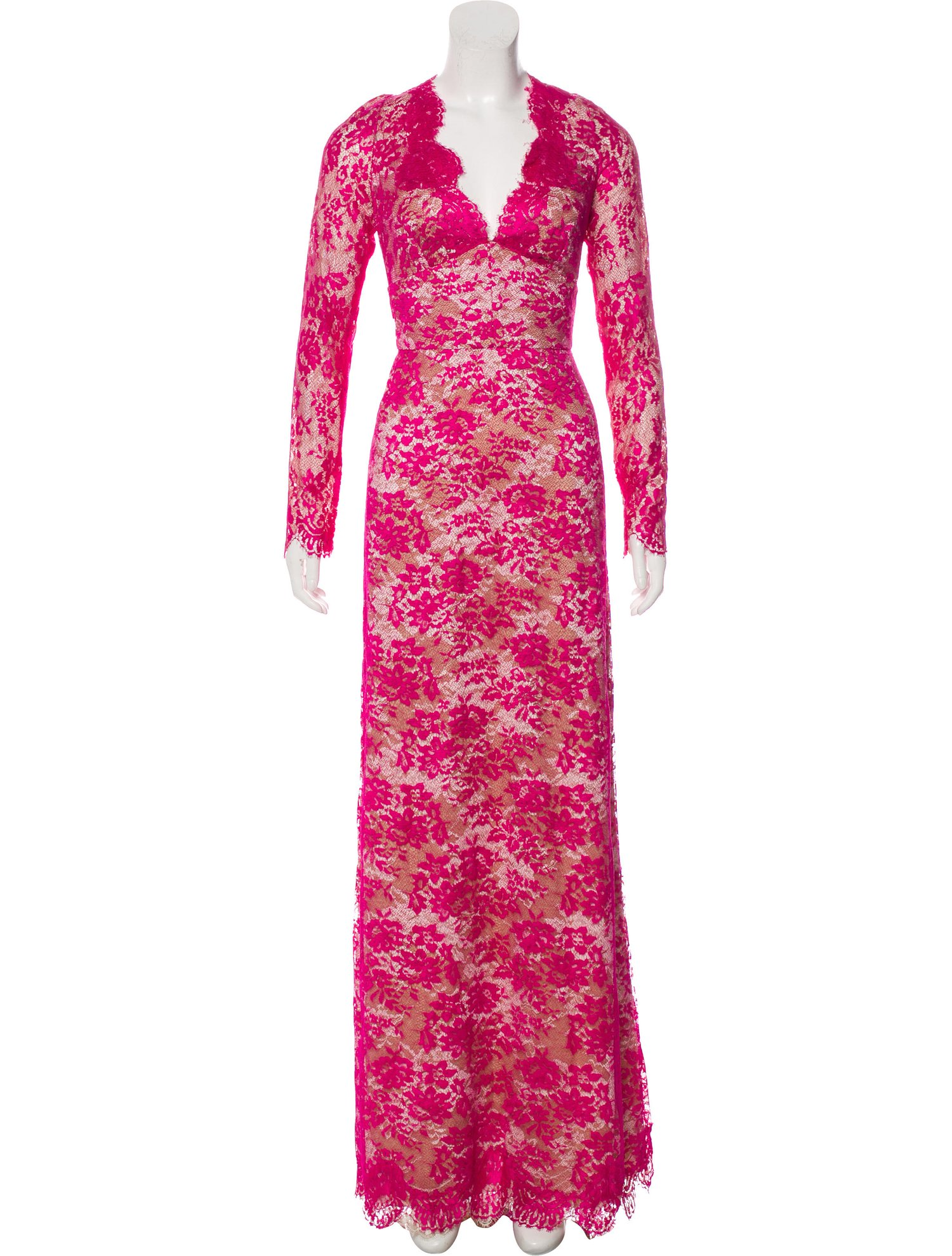 Fuchsia Monique Lhuillier Gown, $675 @therealreal.com
