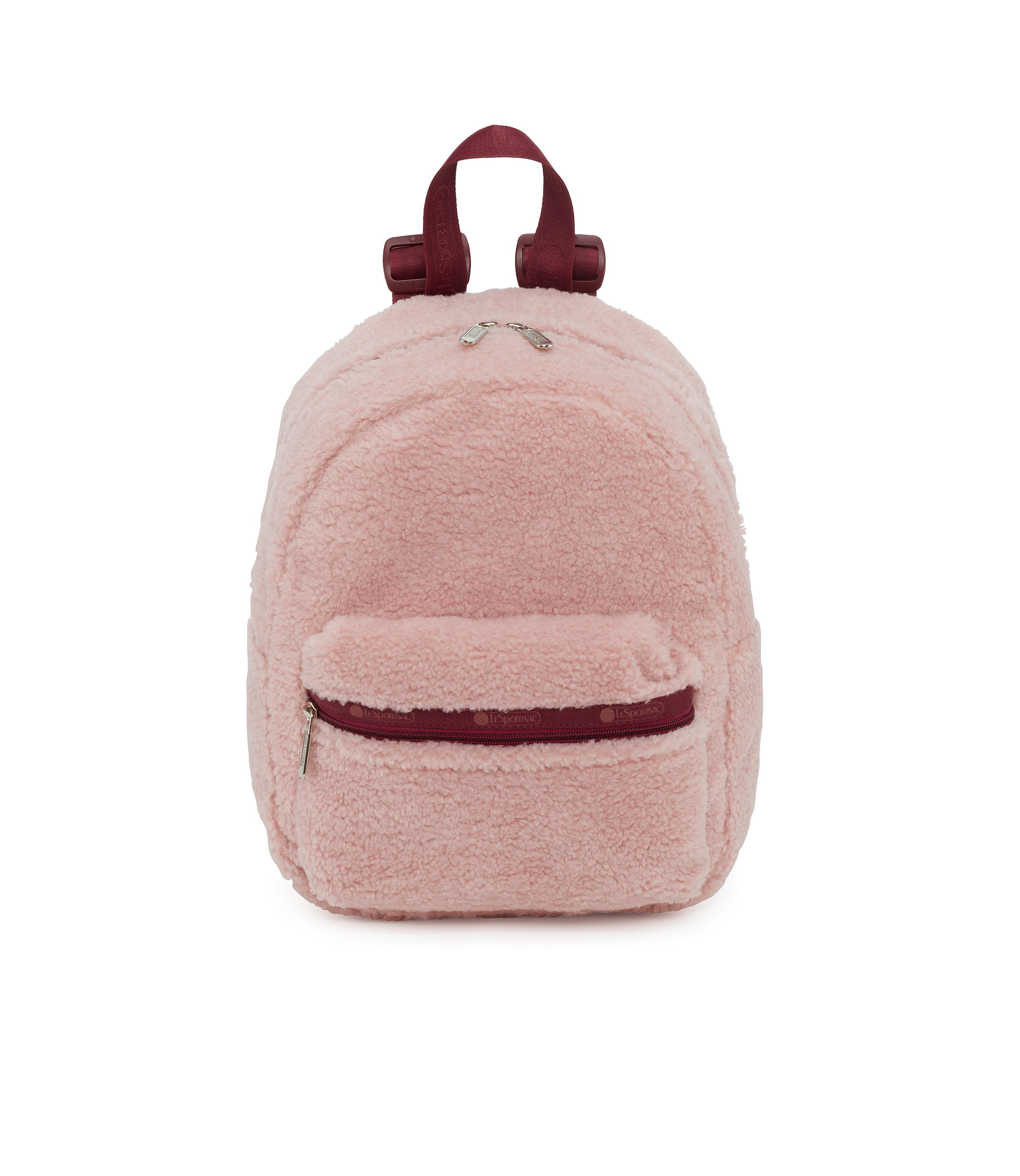 Le Sports Sac faux shearling mini backpack, $110 @lesportsac.com