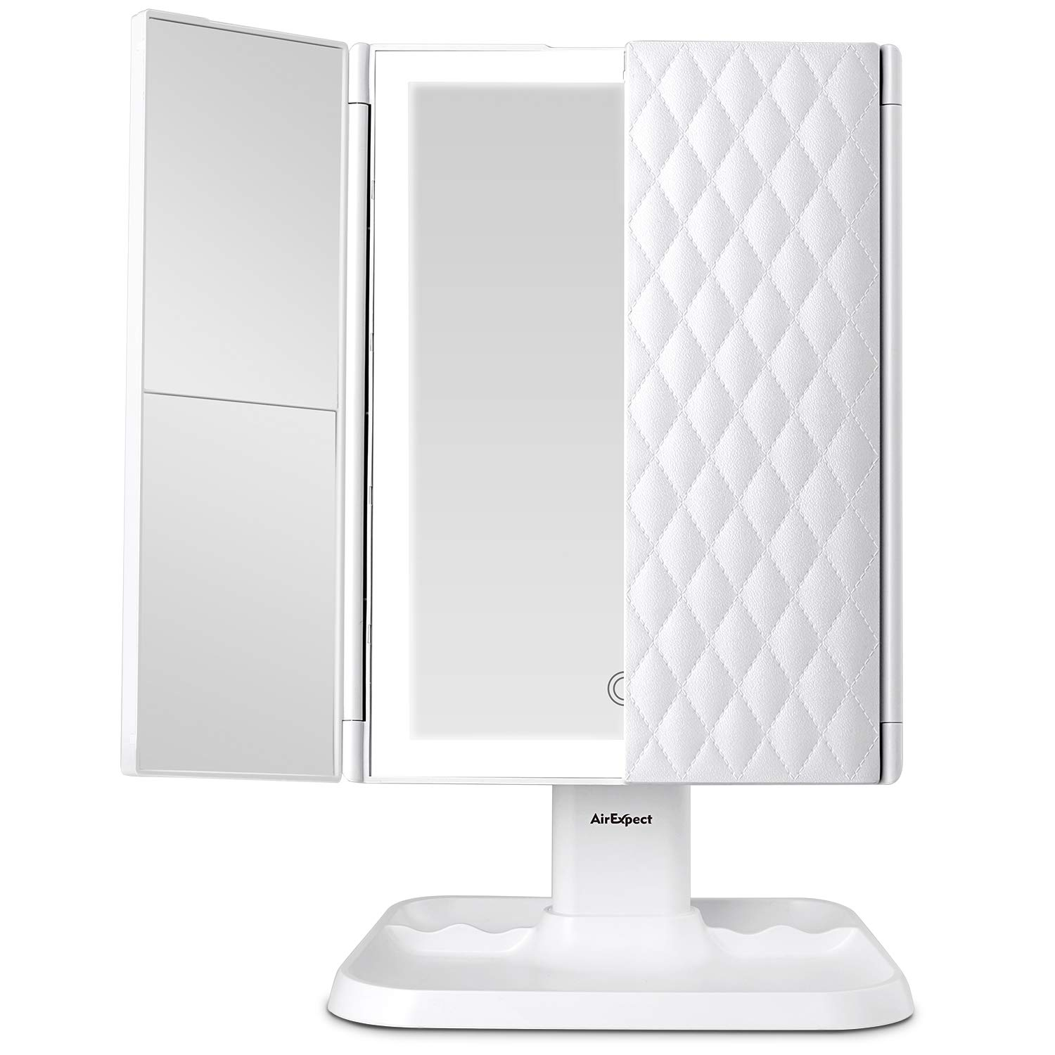 Makeup Mirror Vanity Mirror with Lights - 3 Color Lighting Modes 72 LED Trifold Mirror, Touch Control Design, $31 @amazon.com