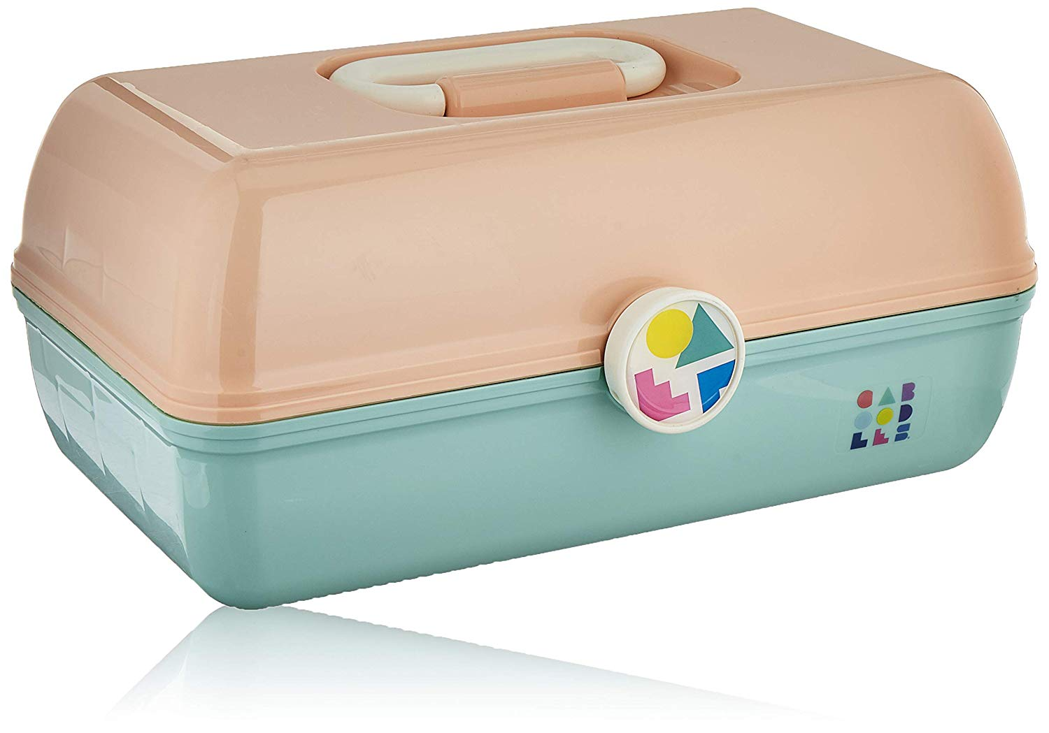 Caboodles On-The-Go Girl Peach Lid & Sea Foam Base Vintage Case, 1 Lb, $17 @amazon.com