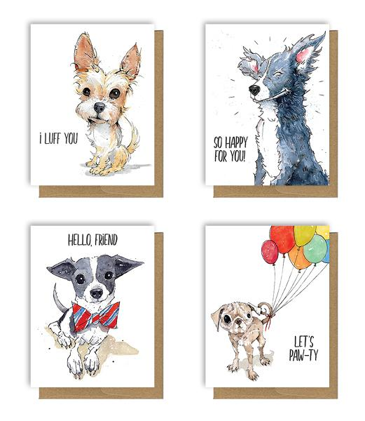 Dog Card Bundle by Ruby Roth, $16 @twotrickpony.com