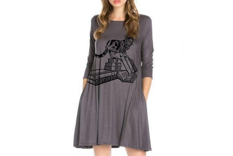Women's Cat Dress Bruno & Betty, $43 @etsy.com