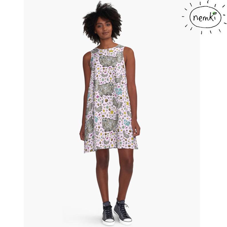 Nemki Cat Dress, $57.63 @etsy.com