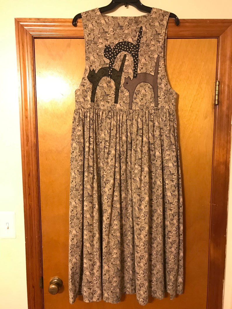 Vintage Cat Lady Dress/ Hannah Will, $45 @etsy.com