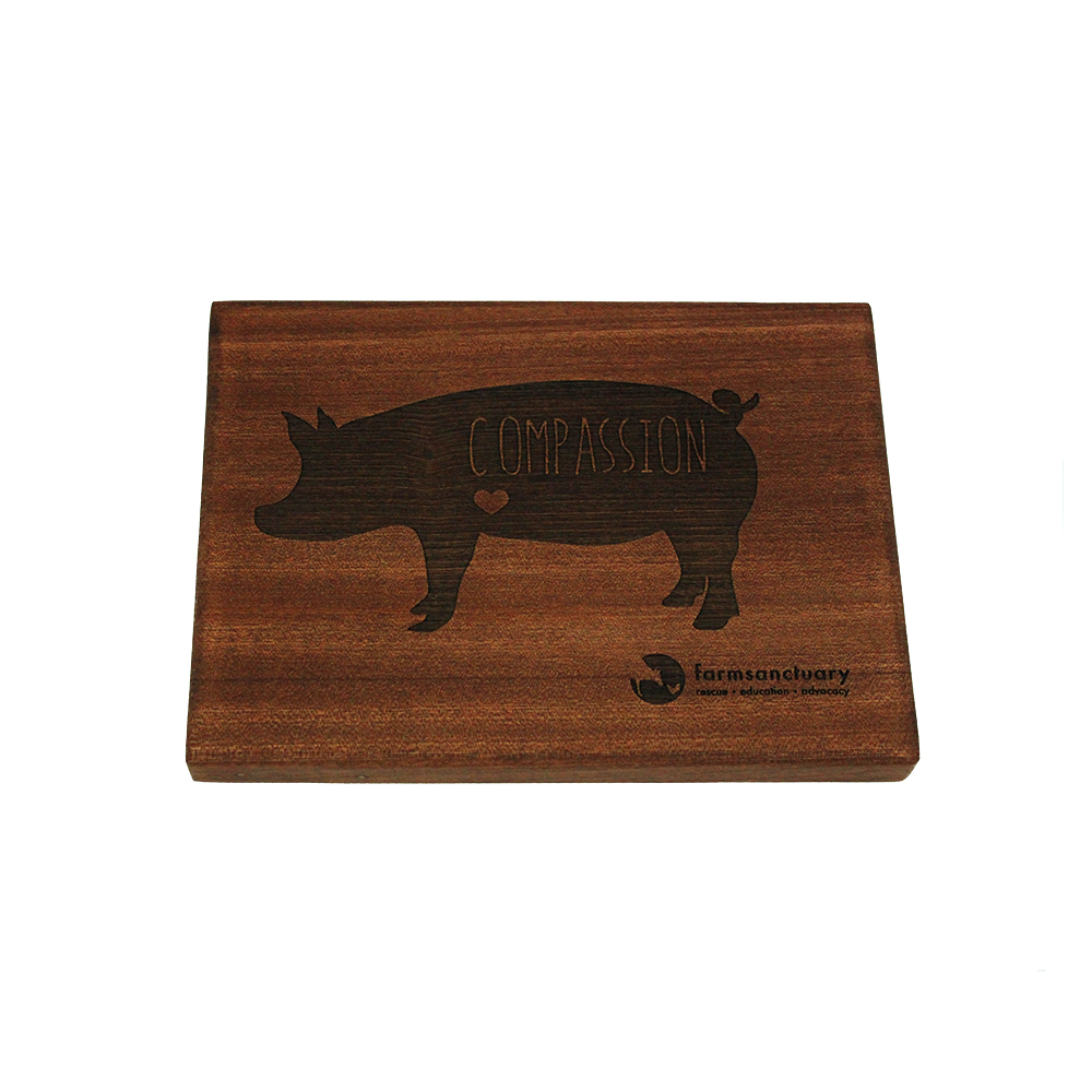 Compassion Pig Serving Board, $25 @farmsanctuary.org