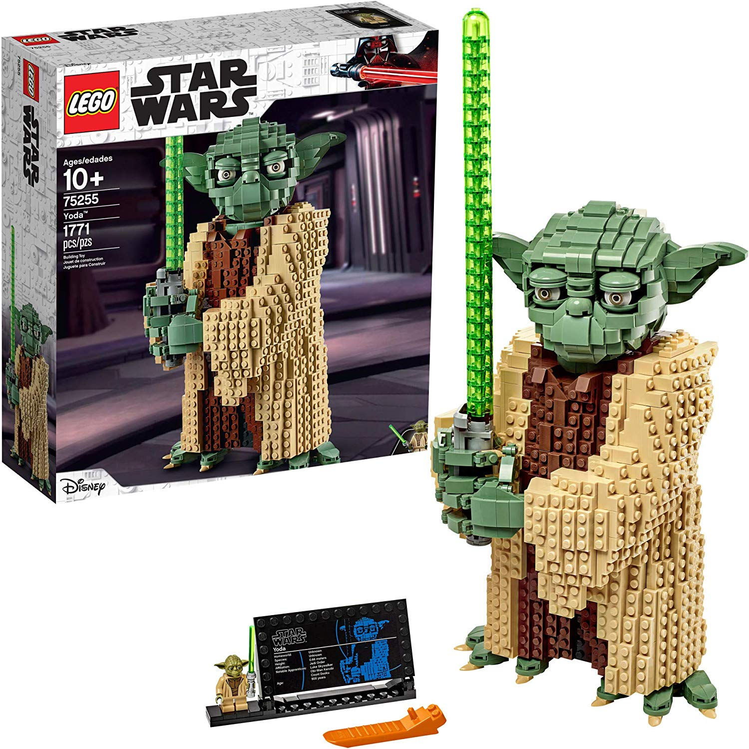LEGO Star Wars: Attack of The Clones Yoda 75255 Yoda Building Model and Collectible Minifigure with Lightsaber, New 2019 (1,771 Pieces), @amazon.com or lego.com