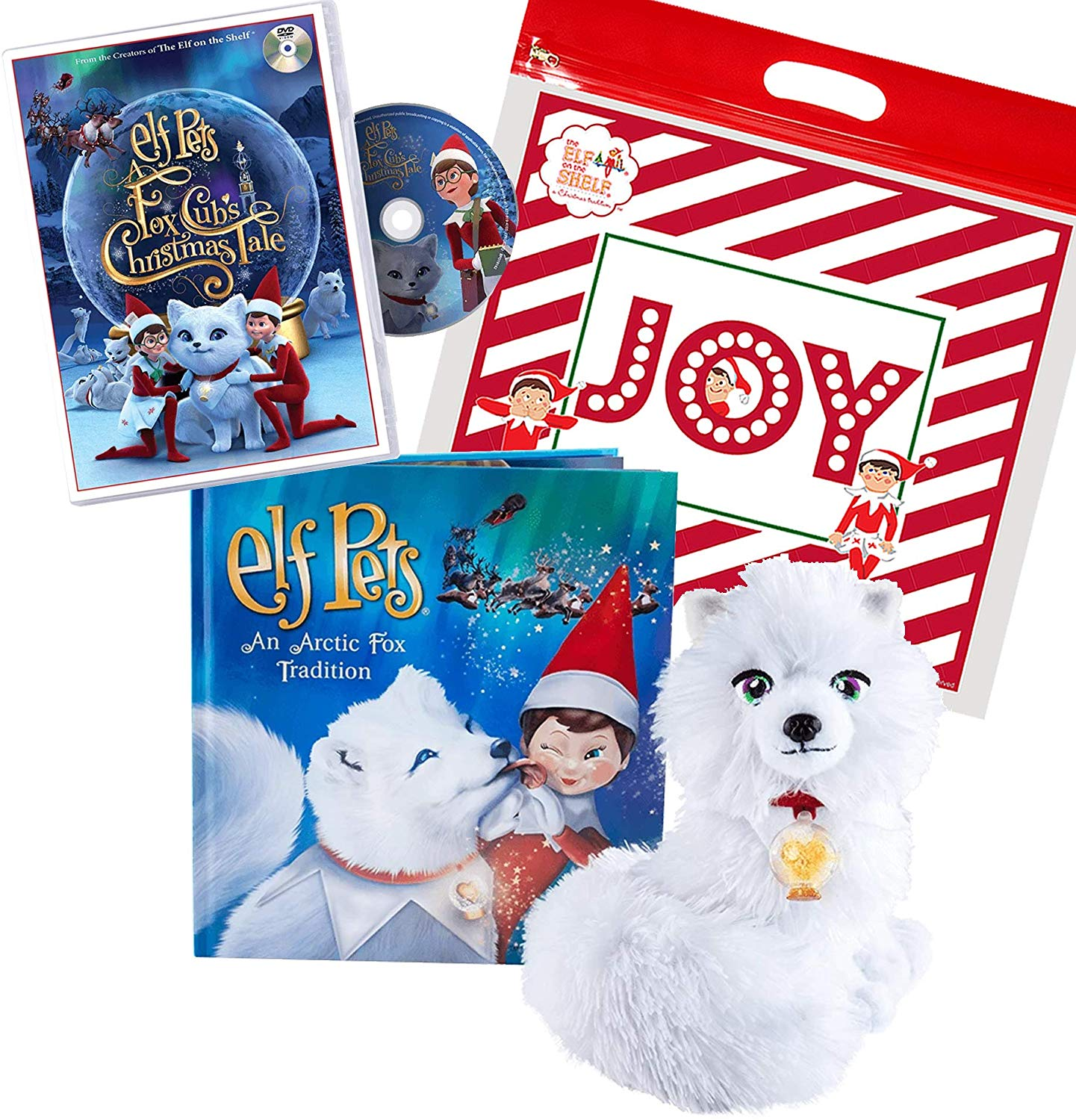 The Elf on the Shelf Set: an Arctic Fox Tradition and A Fox Cub Christmas Tale DVD Includes Exclusive Joy Bag by The Elf on the Shelf, $41 @amazon.com