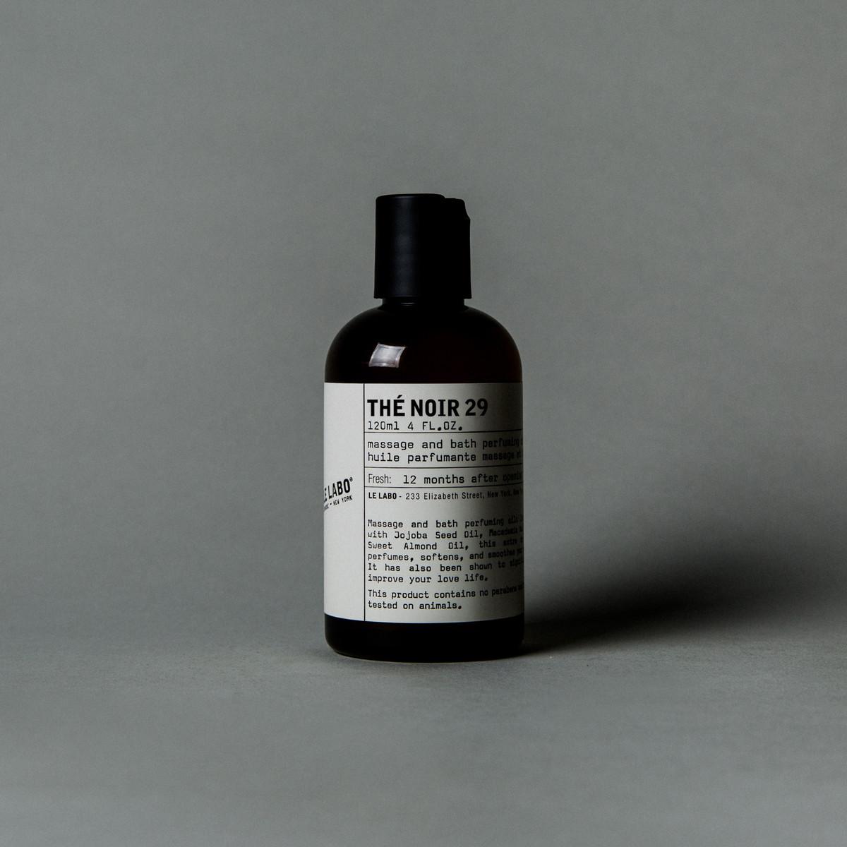 'Thé Noir 29' Body Oil, $69 @lelabofragrances.com
