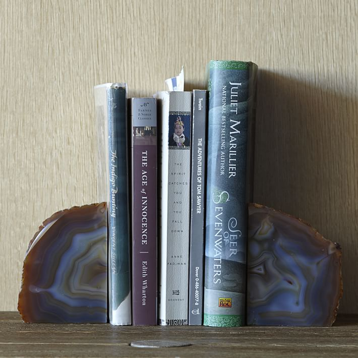 Agate Bookends, $39 @westelm.com