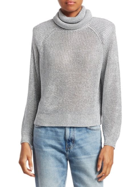RtA Mick Metallic Turtleneck Sweater, $273 @saksfifthavenue.com