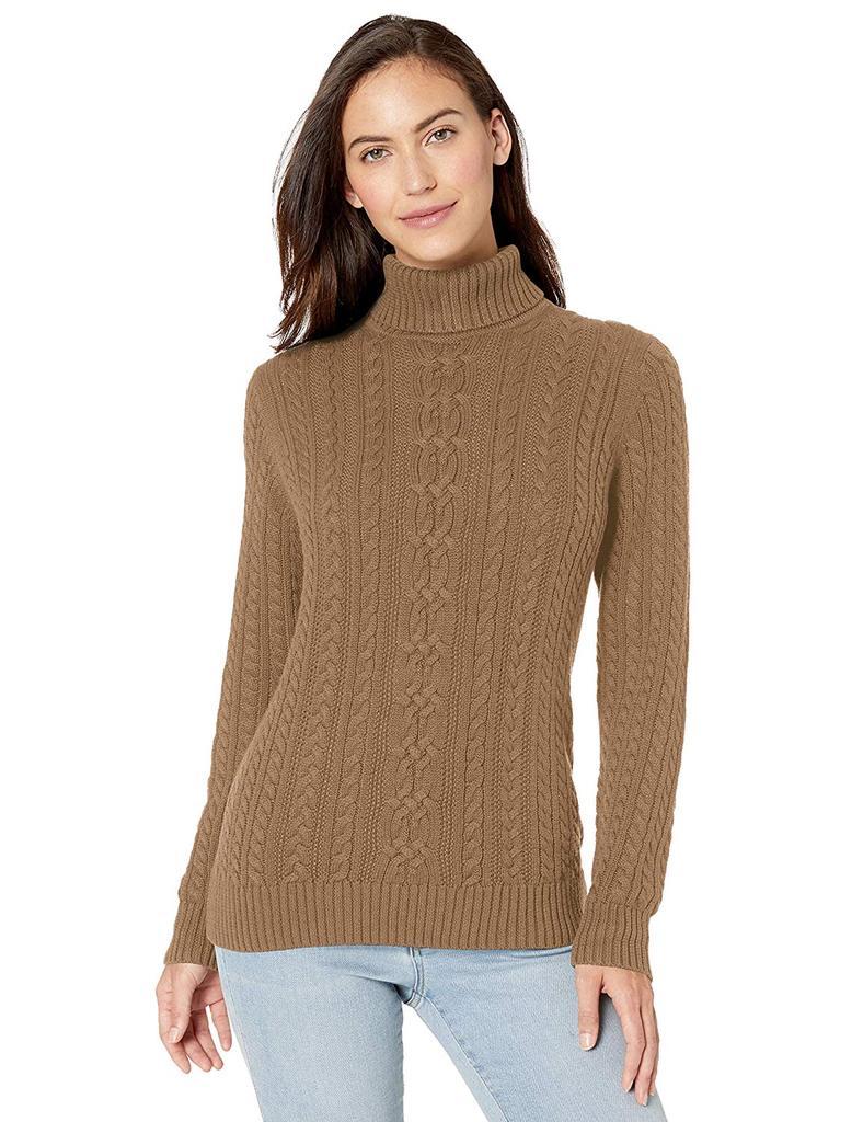 Amazon Essentials Women's Fisherman Cable Turtleneck Sweater, WAS $30, NOW $24 @amazon.com