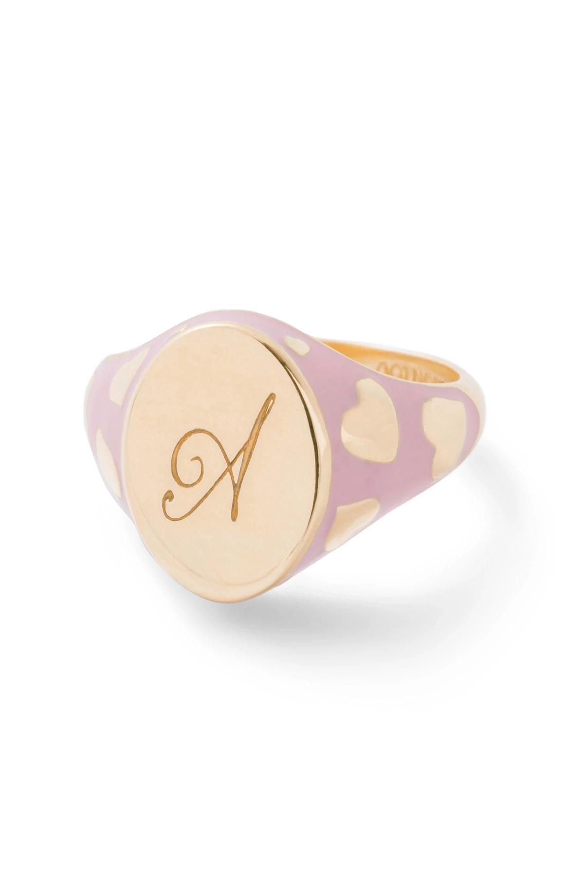 Alison Lou Amour Signet Ring, $950 @alisonlou.com