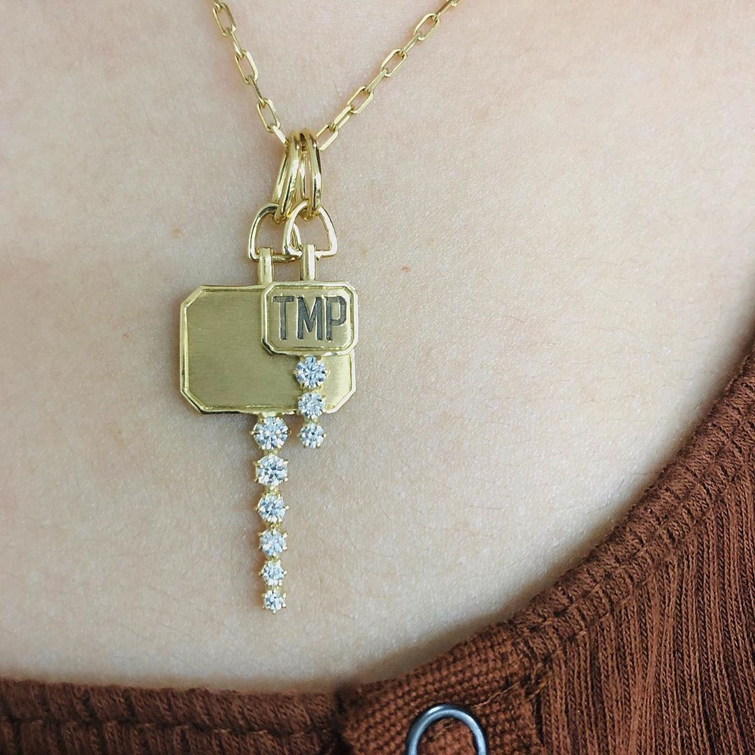 Jade Trau Catherine Key Charm, $1100-3350 *small or large - fully engravable @jadetrau.com