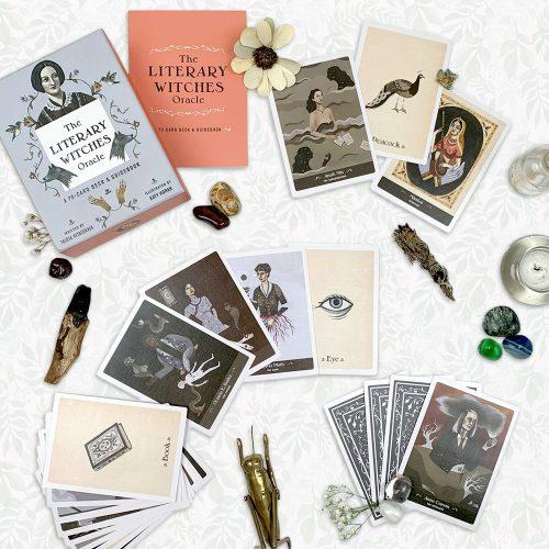 The Literary Witches Oracle: A 70-Card Deck and Guidebook by Taisia Kitaiskaia , $14 @amazon.com (If you seek wisdom from strong, creative women, this oracle deck--which features 30 prominent female writers from literary history--will give you what you seek. The female visionaries in this deck will inform answers to questions about your creative life and spiritual journey.)