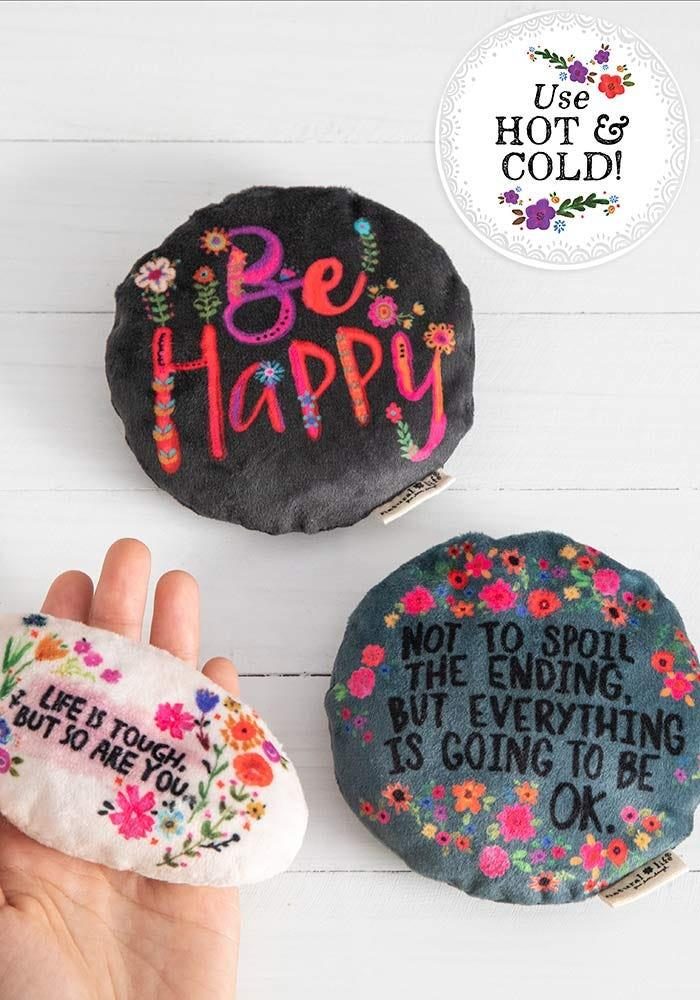 Mini Heating Pad, $8 @naturallife.com (Sweet messages, useful little pads that can be used as either heating or ice packs! For all those little indoor aches and pains)
