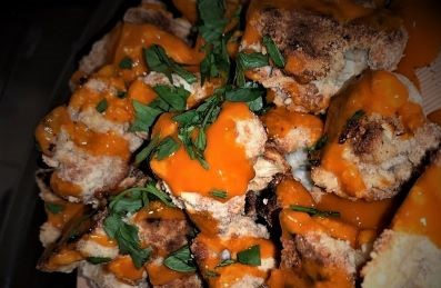 Baked Almond Flour Buffalo Cauliflower Wings