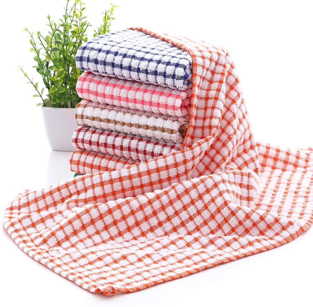 YNERHAI Kitchen Dish Towels, 100% Cottton Kitchen Towels, Dish Towels 16 Inch x 25 Inch (for Kitchen Décor, Multi Color) (16 x 25 Inch, 6 Pack), $23 @amazon.com
