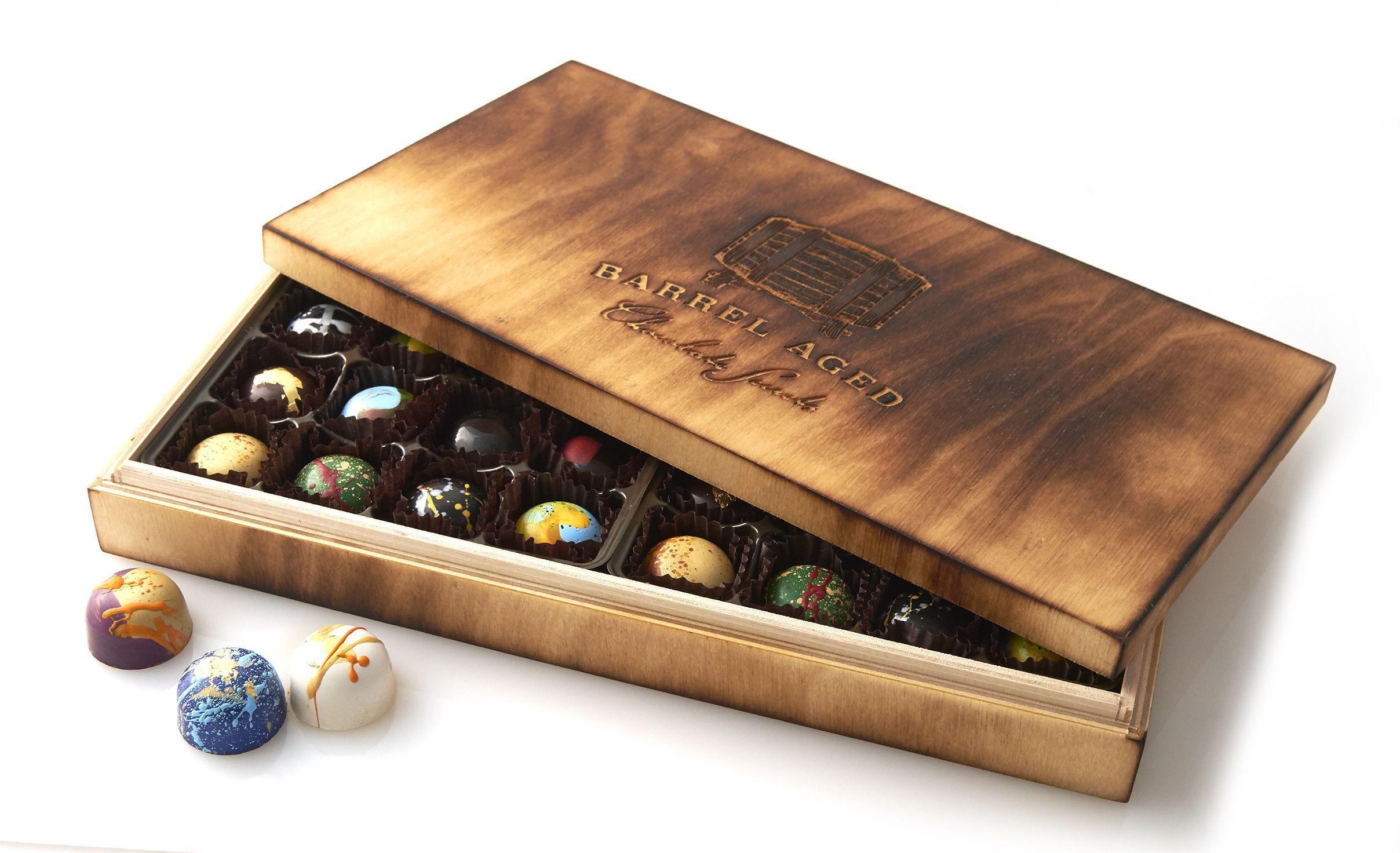 32 Piece Barrel Aged Handcrafted Bonbons, $145 @mychocolatesecrets.com