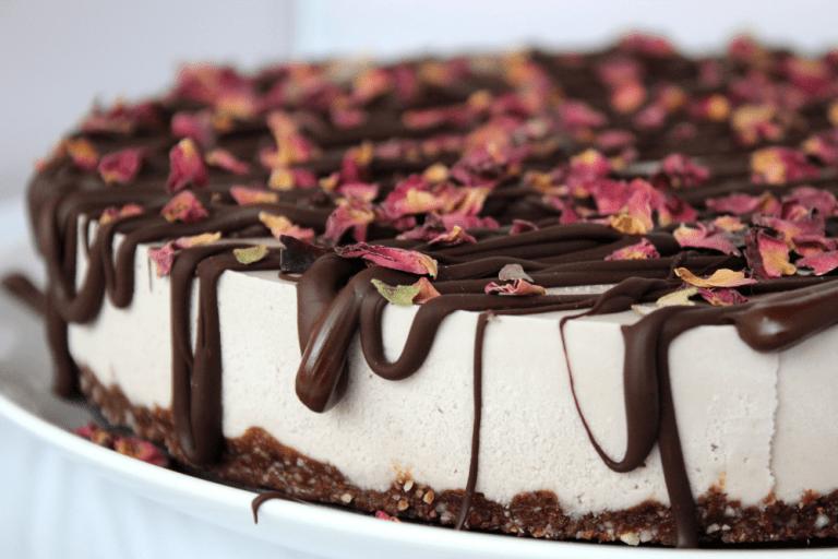 White Chocolate Strawberry-Rose Cheesecake Recipe {Gluten Free, Paleo, Raw, Vegan}