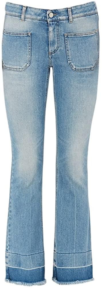 Stella McCartney Kick Flare Frayed Pocket Jeans, $99 @amazon.com