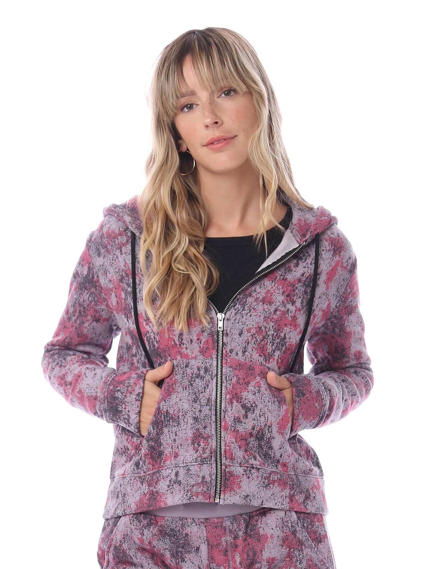 Chelsea Printed Eco-Fleece Full-Zip Hoodie, $68 & Printed Eco-Fleece Jogger Pants $58 @alternativeapparel.com