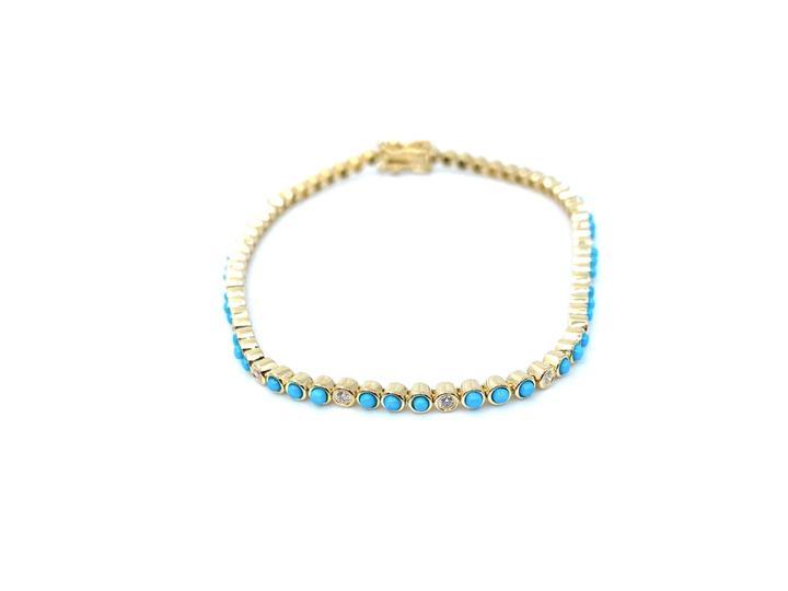 Turquoise & Diamond Bracelet trilogiela, $1,755 @trilogiela.com