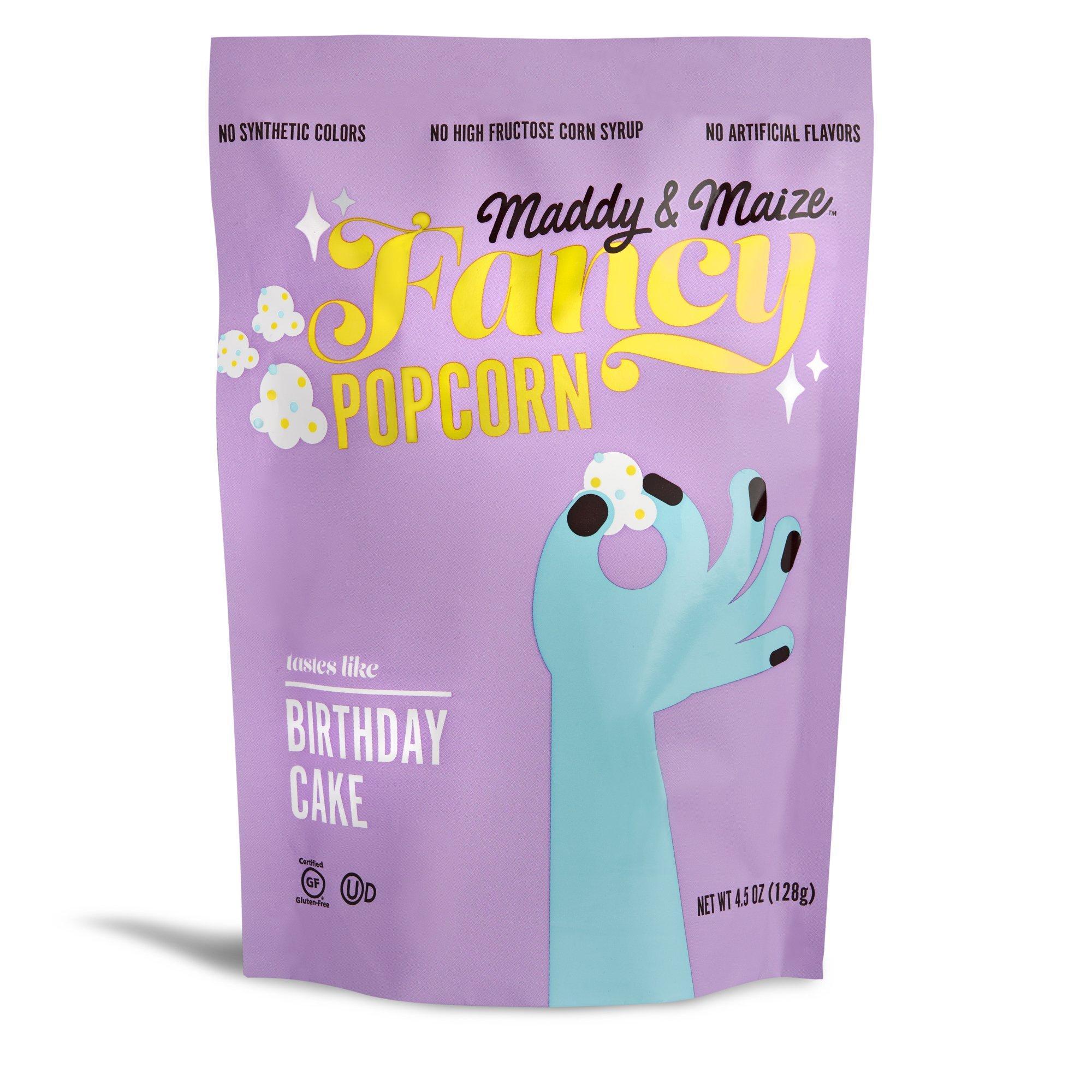 Maddy & Maize Fancy Popcorn in Birthday Cake, $5.99 @maddyandmaize.com