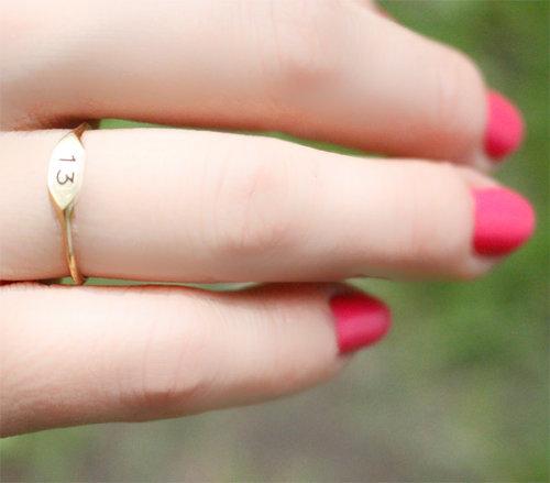 Number 13 Ring, $88 @oliadesigns.com