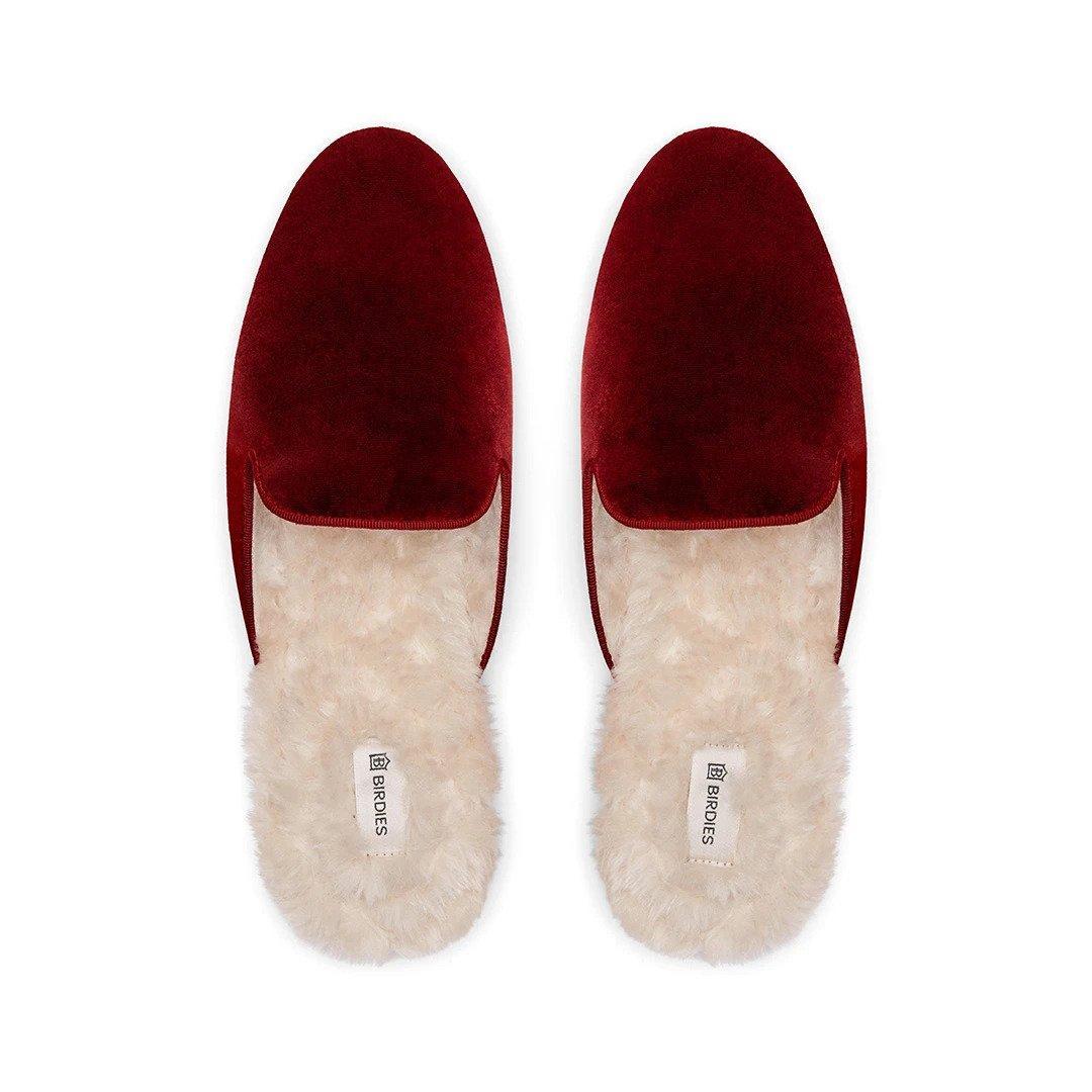 The Phoebe - Burgundy Faux Fur, $85 @birdies.com