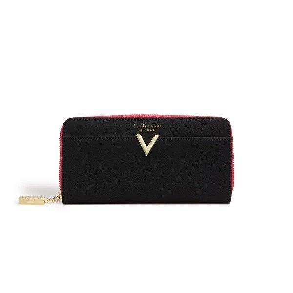 Kindness Black Vegan Two-Tone Wallet, $65 @labante.com