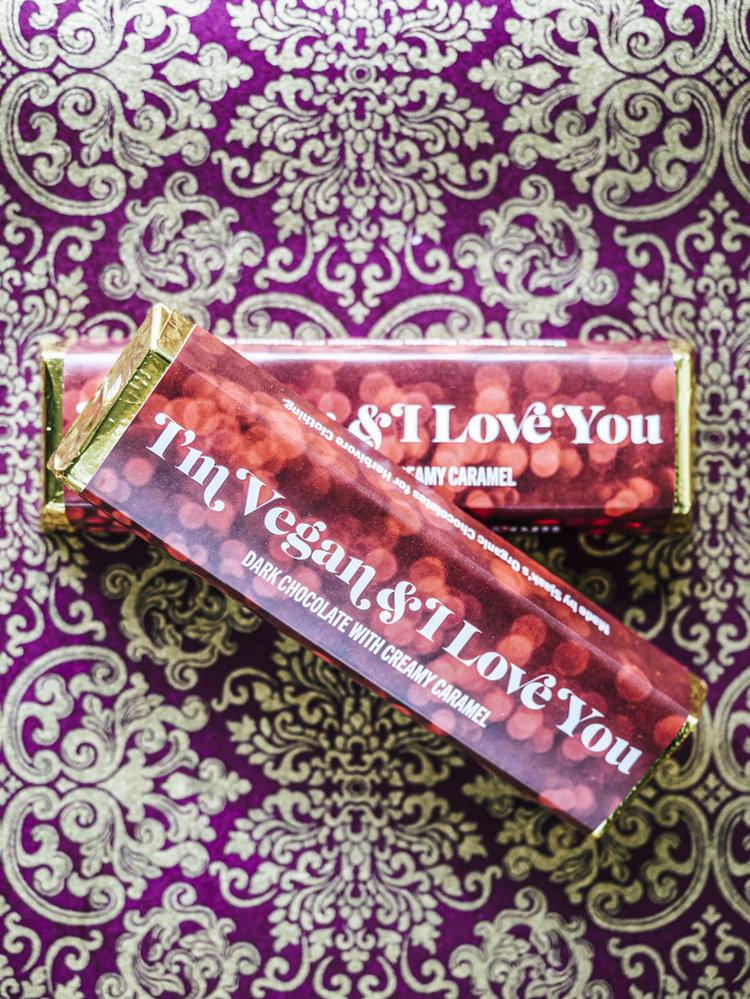 I'm Vegan and I Love You Candy Bar, $4 @herbivoreclothing.com