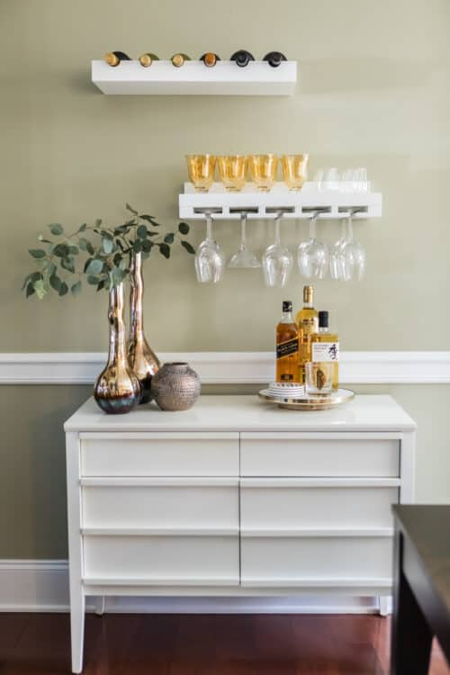 Dining Room Bar Floating Shelves