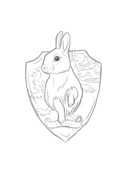 Taxidermy Sketch rabbit commission