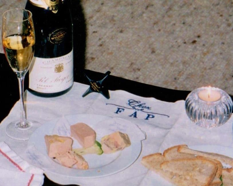 """<span class=""""dojodigital_toggle_title"""">A day without champagne is like a day without  foie gras!</span>"""