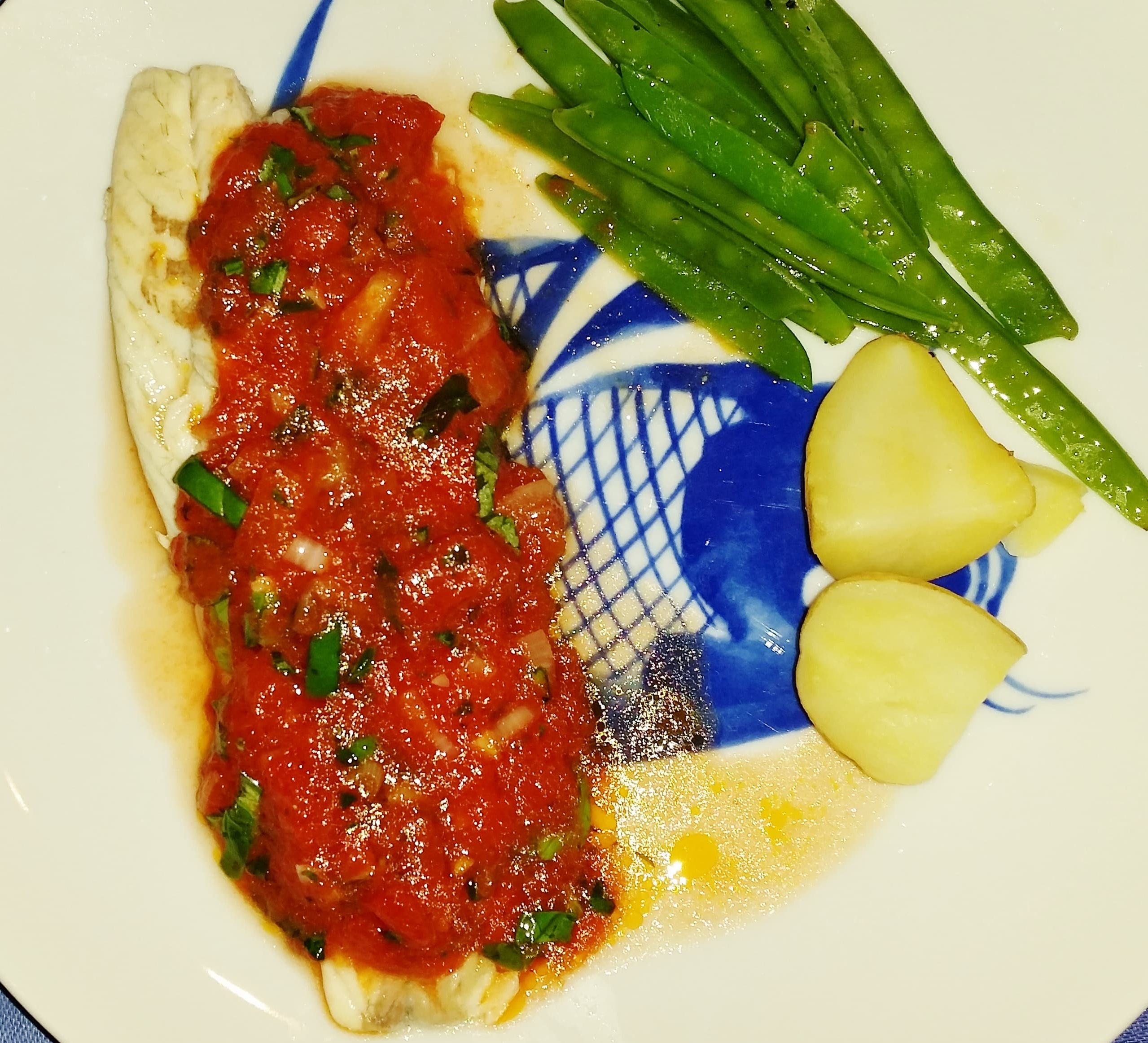 Simple Sea Bass with Sauce Vierge