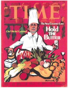 Michel Guerard Time Cover 1976