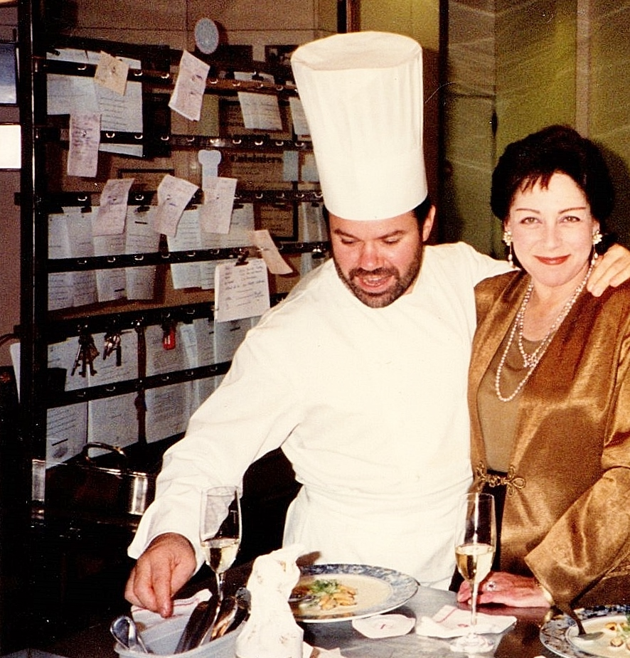 Adrienne with Chef Michel Troisgros with Adrienne