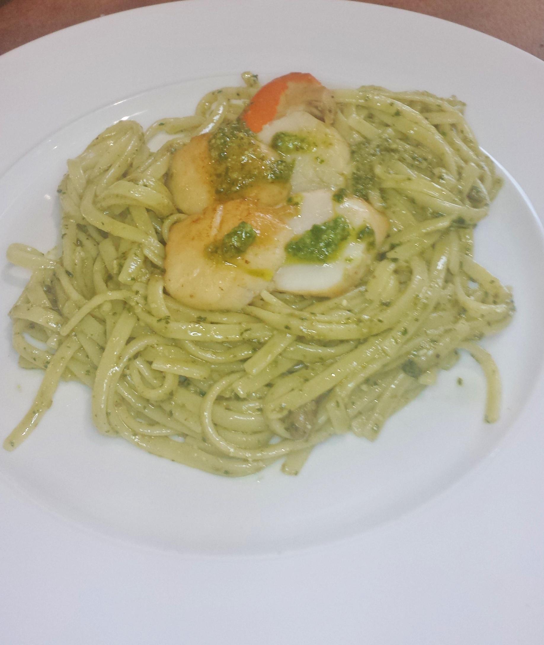 Pasta, Pesto and Shellfish