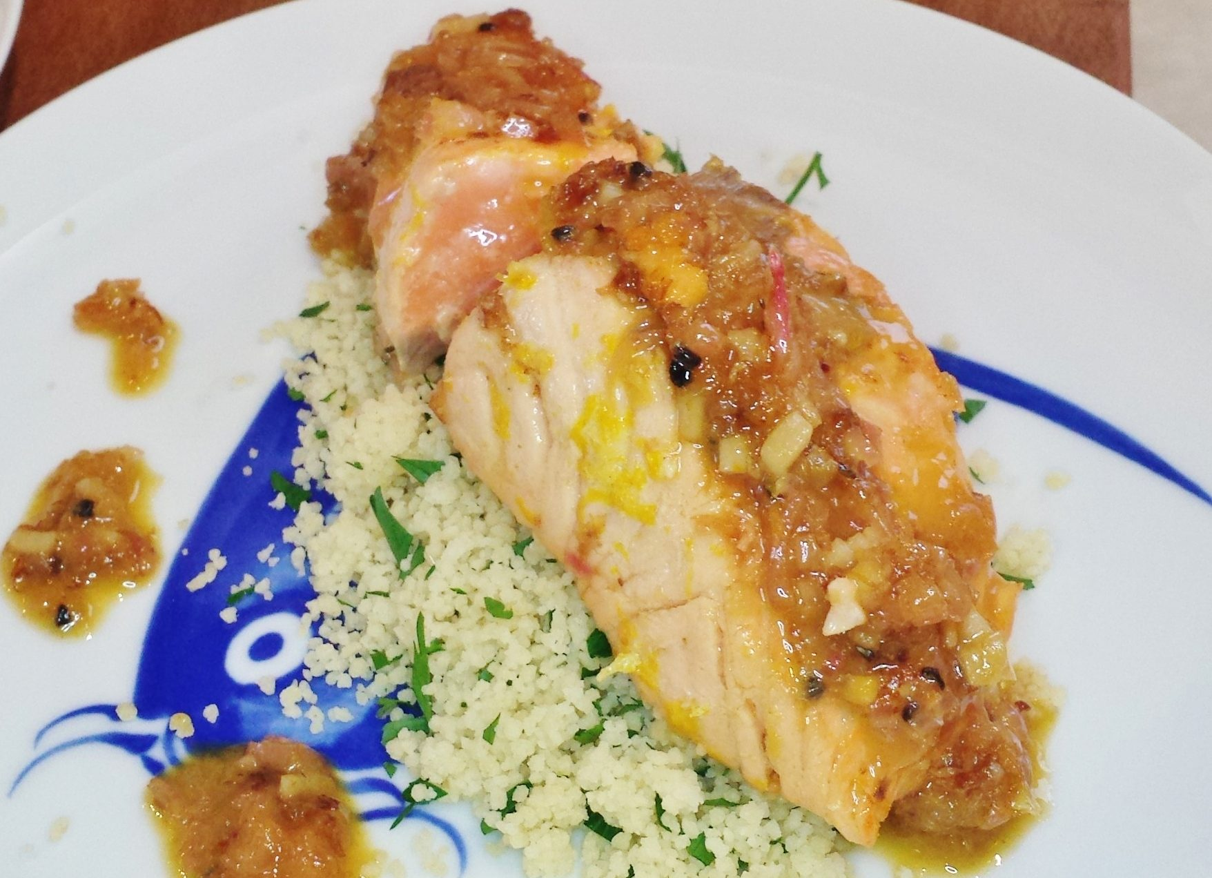 Salmon Fillets with Mandarin and Ginger