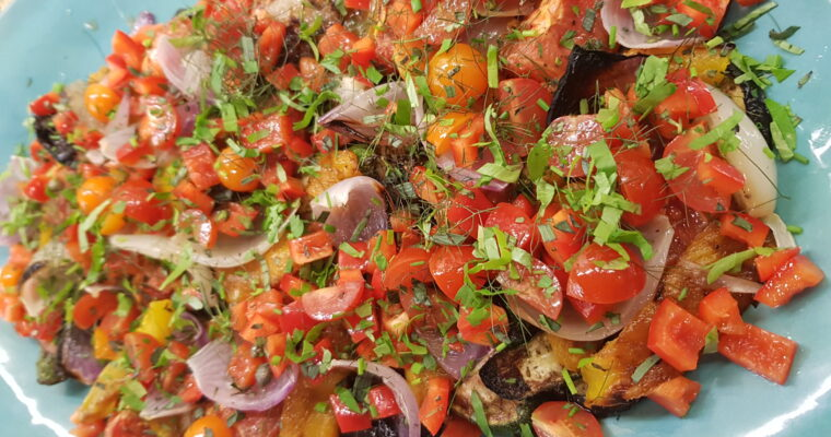 Raw and Roasted Summer Salad