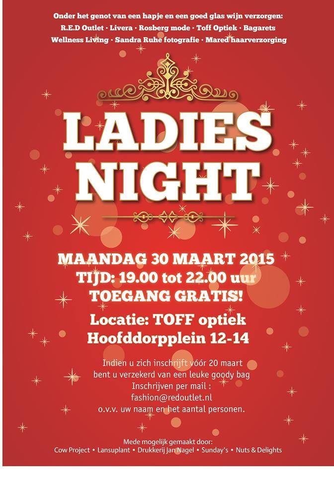 Ladies Night 30 maart in Amsterdam