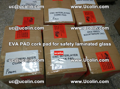 EVA PAD cork pad for safety glazing glass separation (53)